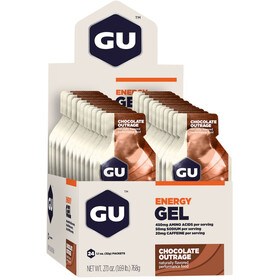 GU Energy Gel Box 24 x 32g, Chocolate Outrage